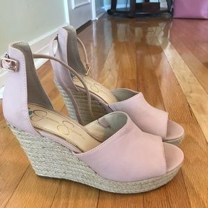 Blush Jessica Simpson wedges
